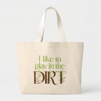 Tengo gusto de jugar en cultivar un huerto diverti bolsas lienzo