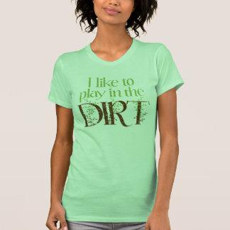 Tengo gusto de jugar en cultivar un huerto diverti camisetas
