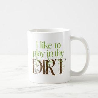 Tengo gusto de jugar en cultivar un huerto taza de café