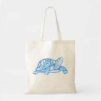 Tengo gusto de la bolsa de asas de las tortugas