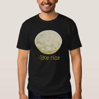 Tengo gusto de la camiseta del arroz playeras
