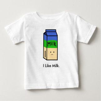 Tengo gusto de la camiseta del bebé de la leche