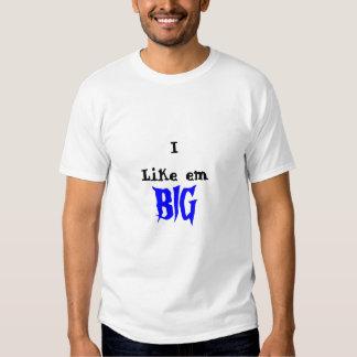 Tengo gusto de la camiseta grande del Em TV Remeras