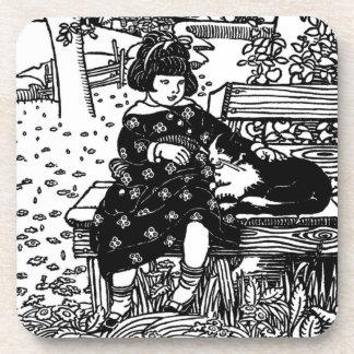 Tengo gusto de la pequeña poesía infantil del gati posavasos