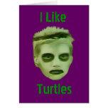 Tengo gusto de la tarjeta del niño del zombi de la