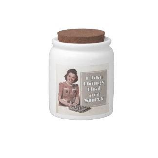 Tengo gusto de las cosas que son brillantes jarra para caramelo
