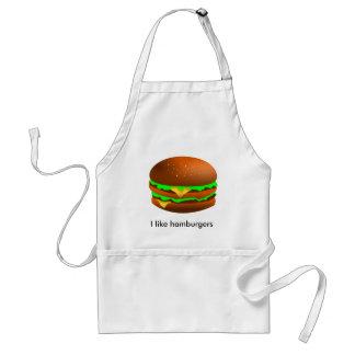 Tengo gusto de las hamburguesas delantales