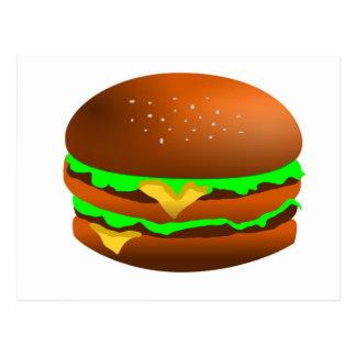 Tengo gusto de las hamburguesas tarjeta postal