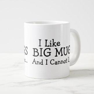 Tengo gusto de las tazas grandes y no puedo mentir taza extra grande