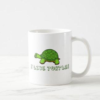 Tengo gusto de lindo verde de las tortugas taza clásica