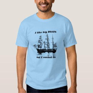 Tengo gusto de los barcos grandes remeras