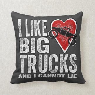 Tengo gusto de los camiones GRANDES Cojin
