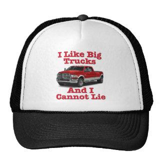 Tengo gusto de los camiones grandes…. Dodge Gorro De Camionero