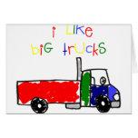 Tengo gusto de los camiones grandes felicitación
