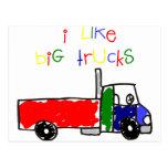 Tengo gusto de los camiones grandes tarjeta postal