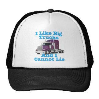 Tengo gusto de los camiones grandes y no puedo men gorro de camionero