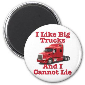 Tengo gusto de los camiones grandes y no puedo men imán redondo 5 cm
