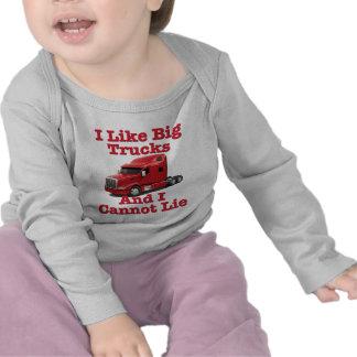 Tengo gusto de los camiones grandes y no puedo camiseta