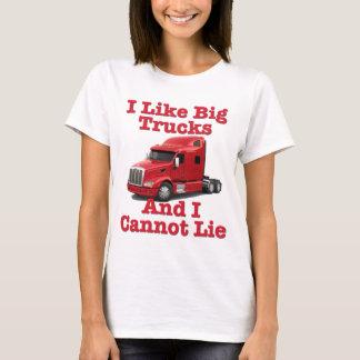 Tengo gusto de los camiones grandes y no puedo playera