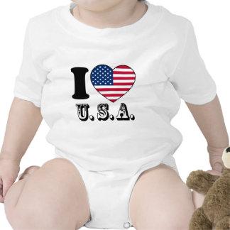 Tengo gusto de los E E U U - unidos sacia del Ban Traje De Bebé