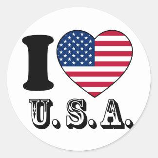 Tengo gusto de los E.E.U.U. - unidos sacia del Pegatina Redonda