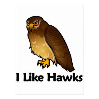 Tengo gusto de los halcones postales