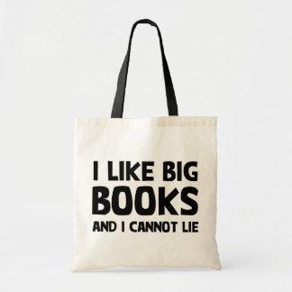 Tengo gusto de los libros grandes bolsa tela barata