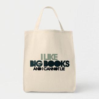 Tengo gusto de los libros grandes bolsa tela para la compra