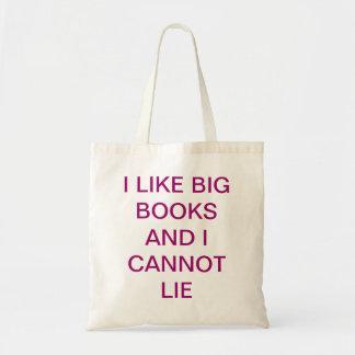 Tengo gusto de los libros grandes bolsas de mano