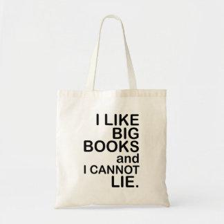 Tengo gusto de los libros grandes. Bolso