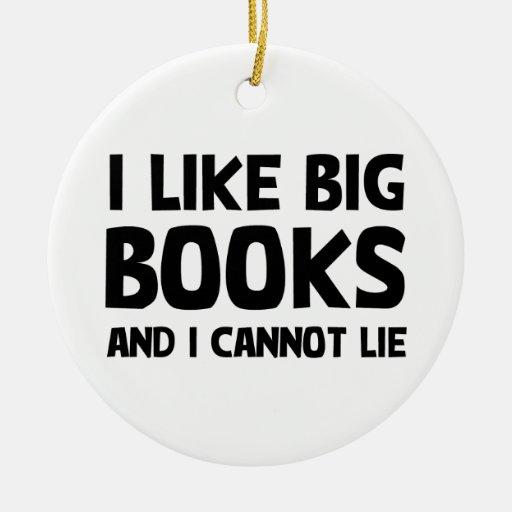 Tengo gusto de los libros grandes ornamentos de navidad