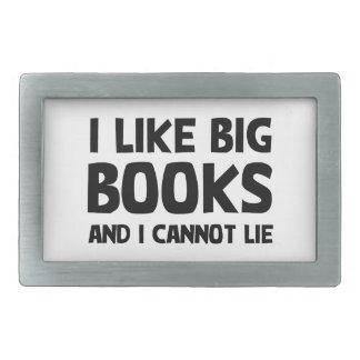 Tengo gusto de los libros grandes hebilla cinturon rectangular