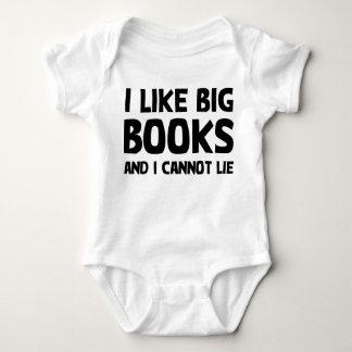 Tengo gusto de los libros grandes mameluco de bebé