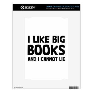 Tengo gusto de los libros grandes NOOK skins