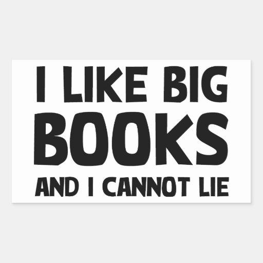 Tengo gusto de los libros grandes pegatina rectangular