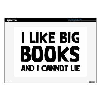 Tengo gusto de los libros grandes skins para 38,1cm portátiles