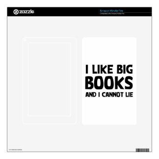 Tengo gusto de los libros grandes kindle fire pegatinas skins