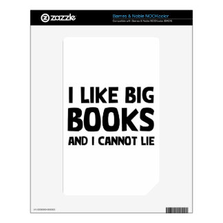 Tengo gusto de los libros grandes calcomanía para NOOK color