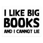 Tengo gusto de los libros grandes tarjetas postales
