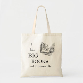 Tengo gusto de los libros grandes y no puedo bolsa tela barata