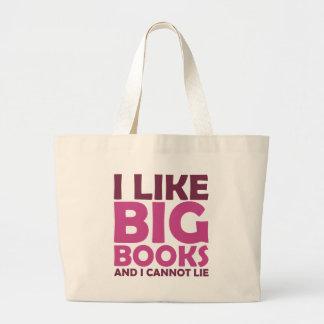 Tengo gusto de los libros grandes y no puedo menti bolsa tela grande