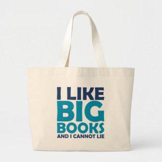 Tengo gusto de los libros grandes y no puedo menti bolsa