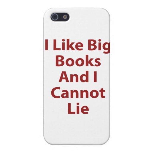 Tengo gusto de los libros grandes y no puedo menti iPhone 5 cárcasas