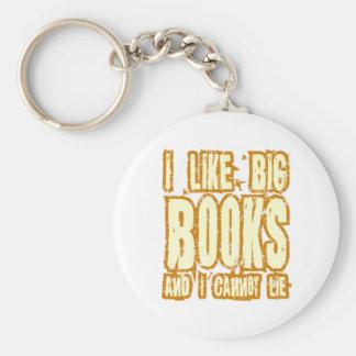 Tengo gusto de los libros grandes y no puedo menti llavero redondo tipo pin