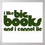 Tengo gusto de los libros grandes y no puedo menti posters