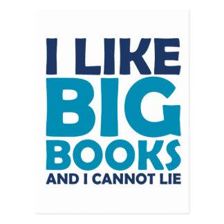 Tengo gusto de los libros grandes y no puedo menti tarjeta postal