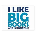 Tengo gusto de los libros grandes y no puedo menti postales