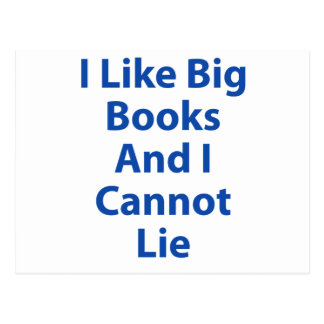 Tengo gusto de los libros grandes y no puedo menti postal