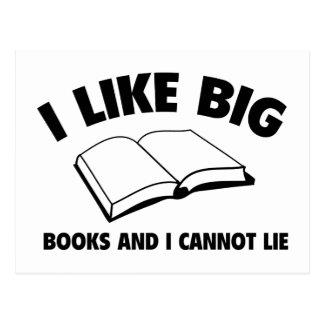 Tengo gusto de los libros grandes y no puedo menti tarjetas postales