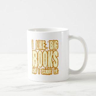 Tengo gusto de los libros grandes y no puedo menti tazas de café